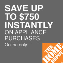 $750 instantly off and free shipping on appliances