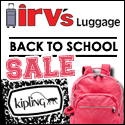 Back to School with Irv's Luggage