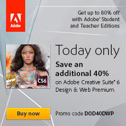 40% off Adobe Design and Web Premium Suite, Education Version