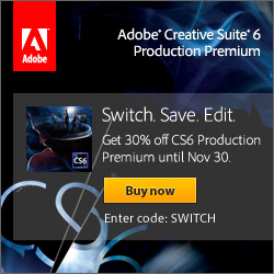 30% off Adobe CS6 Production Premium