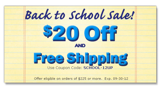 $20 off plus free shipping