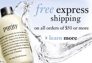 Free express shipping on all orders of $50 or more