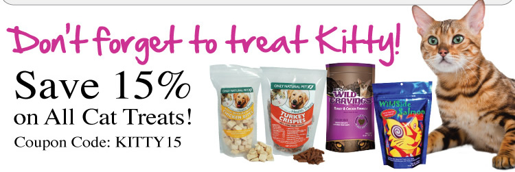 Save 15% on Cat Treats