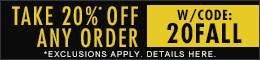 Get 20% off your total orders