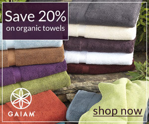20% off organic towels