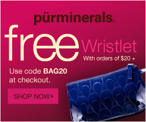 Free Wristlet Makeup Back with Pur Minerals $20 Purchase