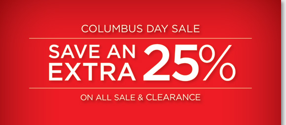 25% off Final Clearance items