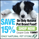 Save 15% on Only Natural Pet Brand Food