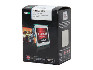$10 Off AMD A10-5800K Trinity 3.8GHz (4.2GHz Turbo) Socket FM2 100W Quad-Core Desktop APU