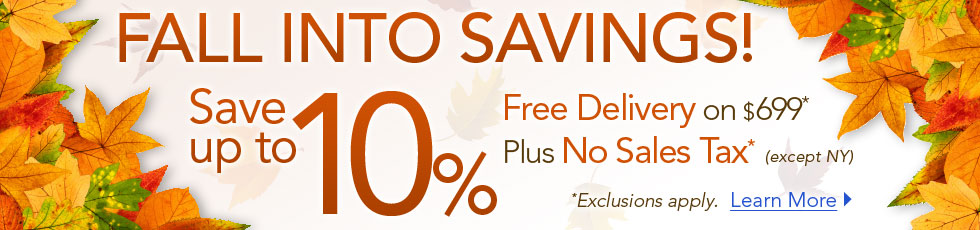 Fall Savings: 10% Off + Free Delivery