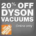 20% off Dyson vacuums