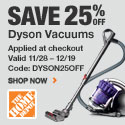 25% Off Dyson Vacuums