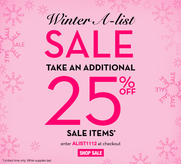 Additional 25% off All Clearance