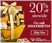 Get 20% off your entire order of Delicious Gift Baskets, Chocolates, Fruits