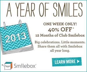 Get 40% off an annual Club Smilebox subscription