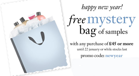 Free mystery bag w/£45 purchase