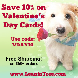 Enjoy 10% off all Valentine's Day cards