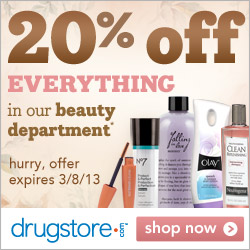 Save 20% on everything in the beauty department