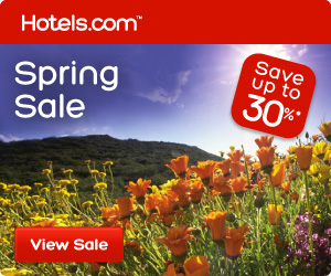 Spring Sale: great deals for your next vacation! Save up to 30%!