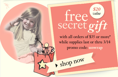 Receive a free secret gift worth $20