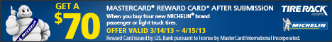 Michelin, Get a $70 Reward Card!