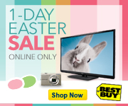 1-Day Easter Sale, Online Only, Plus Free Shipping