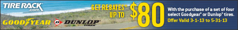 Goodyear/Dunlop, Get Up to an $80 Rebate