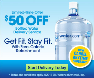 $50 OFF Bottled Water Delivery Service for a Limited Time