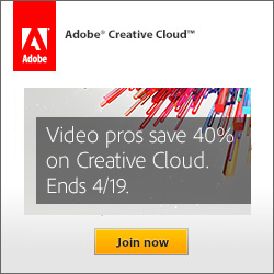 Special offer for Video Pros - Join Adobe Creative Cloud and receive a special introductory pricing of $29.99/mo for your first year of membership
