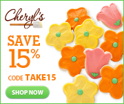 Save 15% on fresh-baked gourmet cookies, brownies, cakes and more