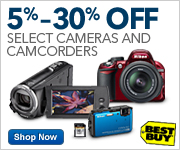 5%-30% Off Select Cameras, Camcorders and Accessories, Plus Free Shipping