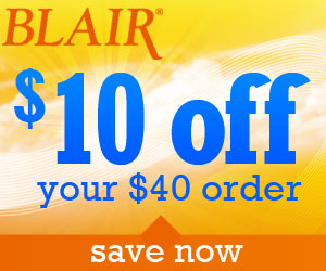 $10 OFF $40 Orders at Blair.com