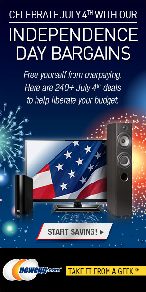 Celebrate July 4th with the Independence Day Bargains from Newegg.com