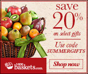 Save 20% off on select Summer Gifts at 1800Baskets.com