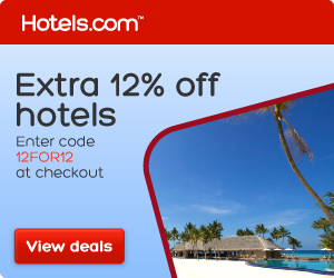 Save an extra 12% at Hotels.com