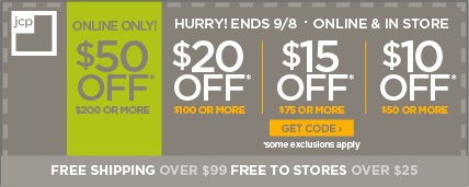 Receive $10 off $50, $15 off $75, $20 off $100, $50 off $200