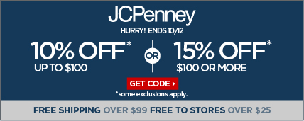 10% off purchases up to $100 or 15% off $100 or more
