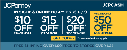 Save $10 off a purchase of $50, $15 off $75, $20 off $100, & $50 off $200
