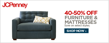 40% off select furniture & mattresses