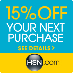 15% off your next single item purchase at HSN