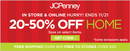 20-50% off select home items in store and online,