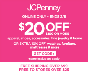 Save $20 off $100 on apparel, shoes, accessories, fine jewelry, and home purchases